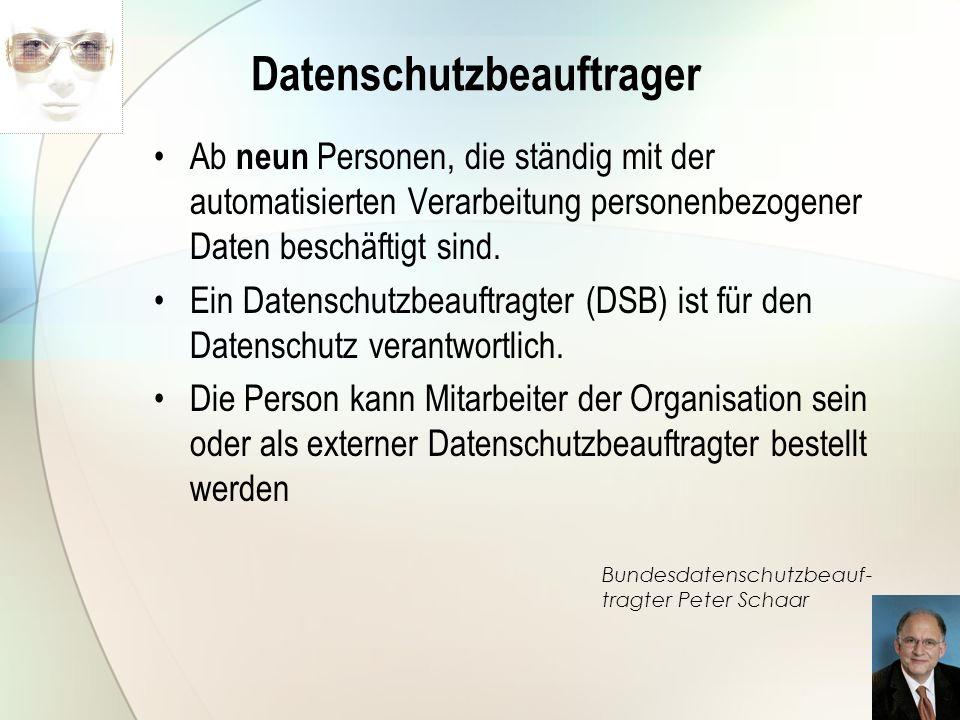 Datenschutzbeauftrager