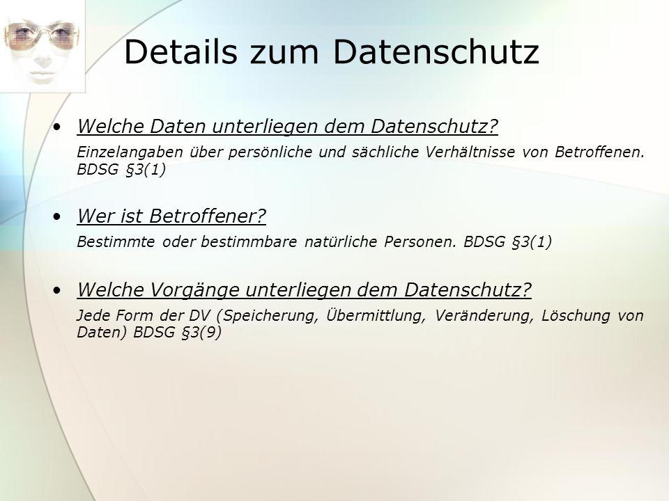 Details zum Datenschutz