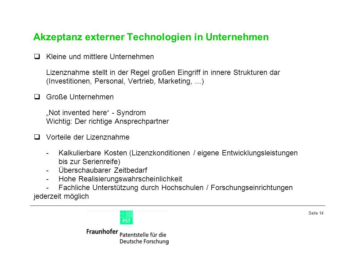 Akzeptanz externer Technologien in Unternehmen