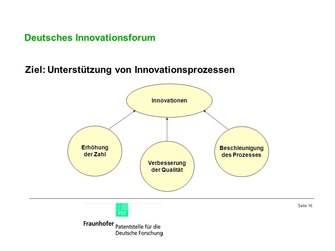 Verbesserung der Qualität Beschleunigung des Prozesses