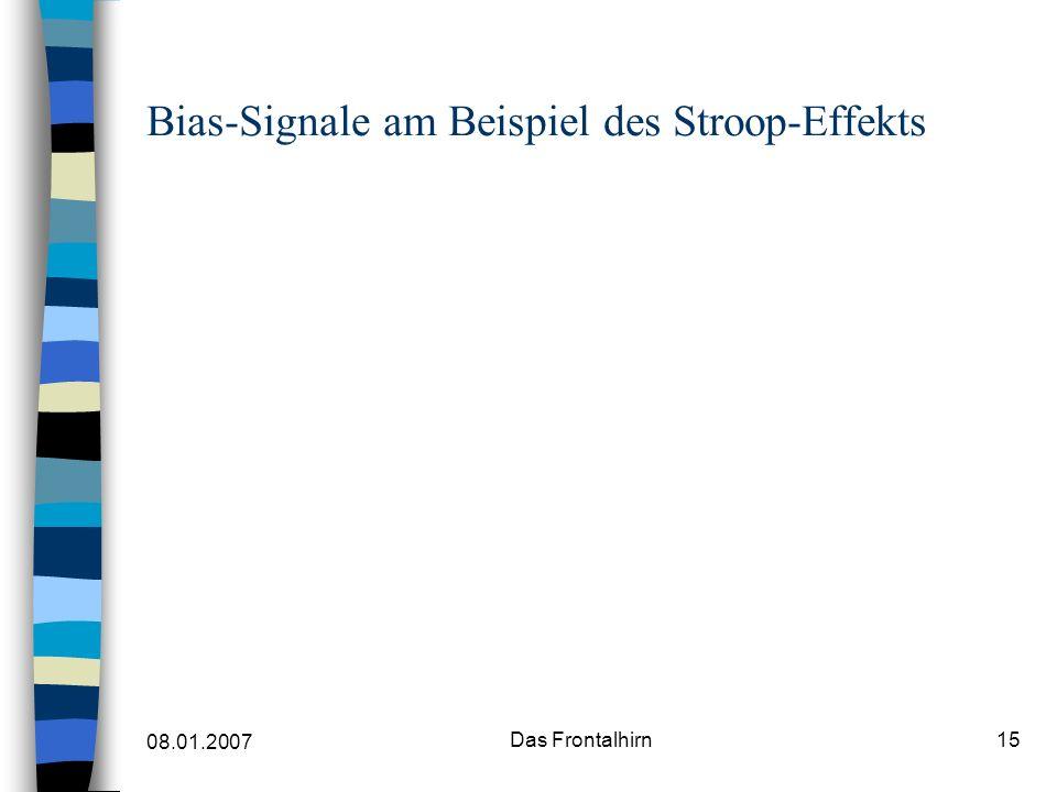 Bias-Signale am Beispiel des Stroop-Effekts