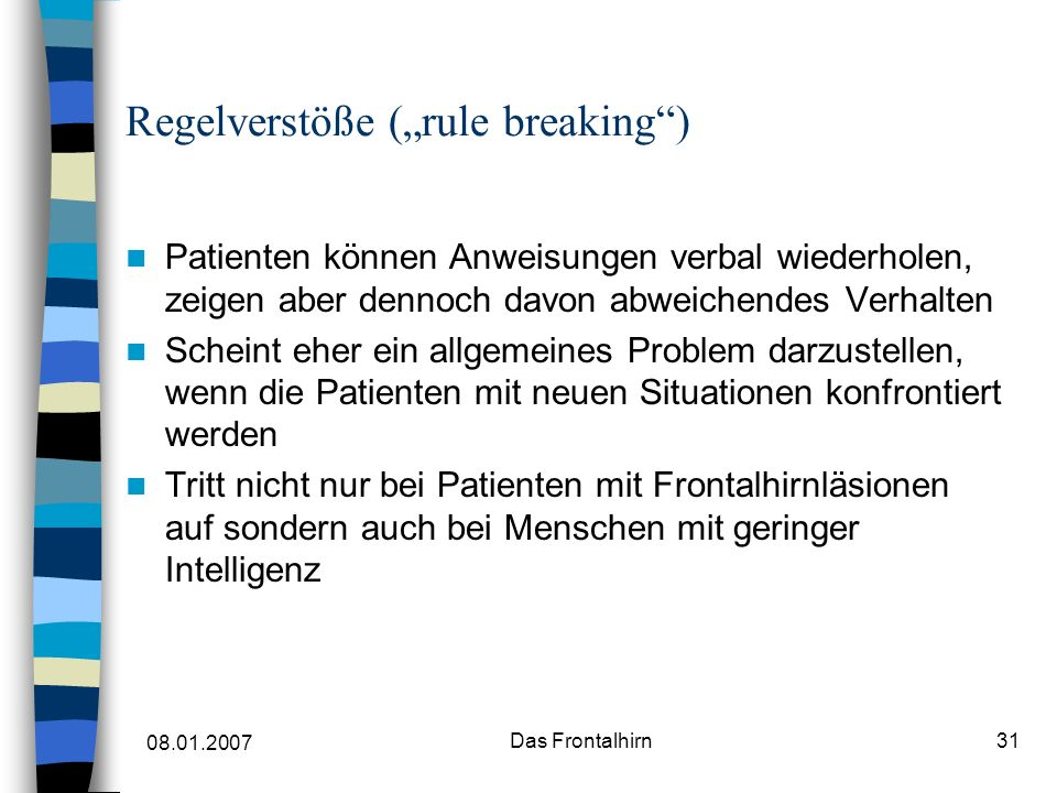 "Regelverstöße (""rule breaking )"