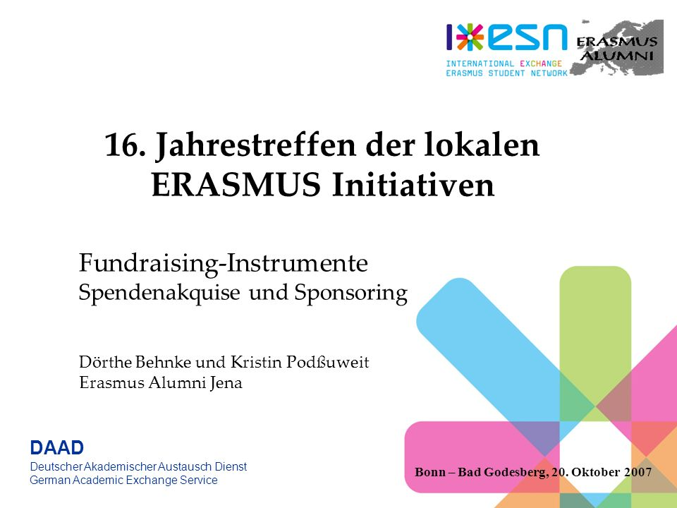 16. Jahrestreffen der lokalen ERASMUS Initiativen