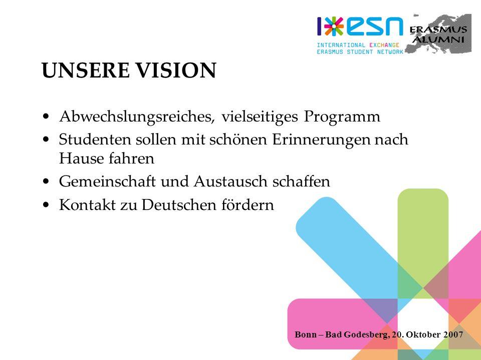 UNSERE VISION Abwechslungsreiches, vielseitiges Programm