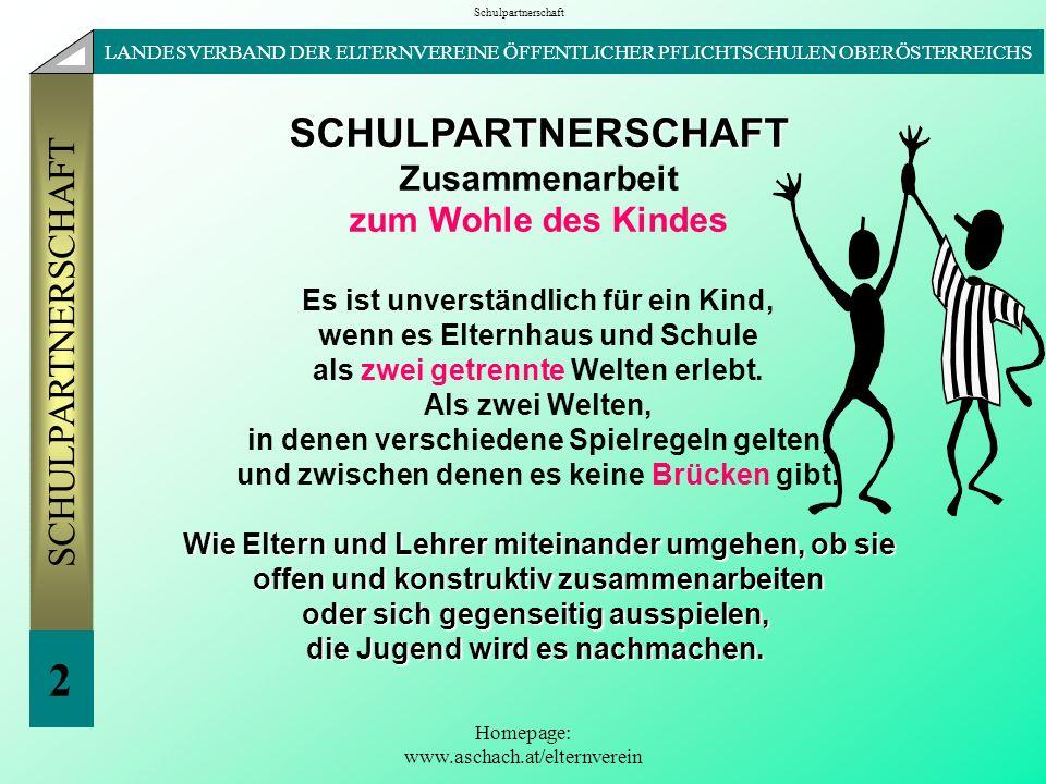 2 SCHULPARTNERSCHAFT Zusammenarbeit zum Wohle des Kindes