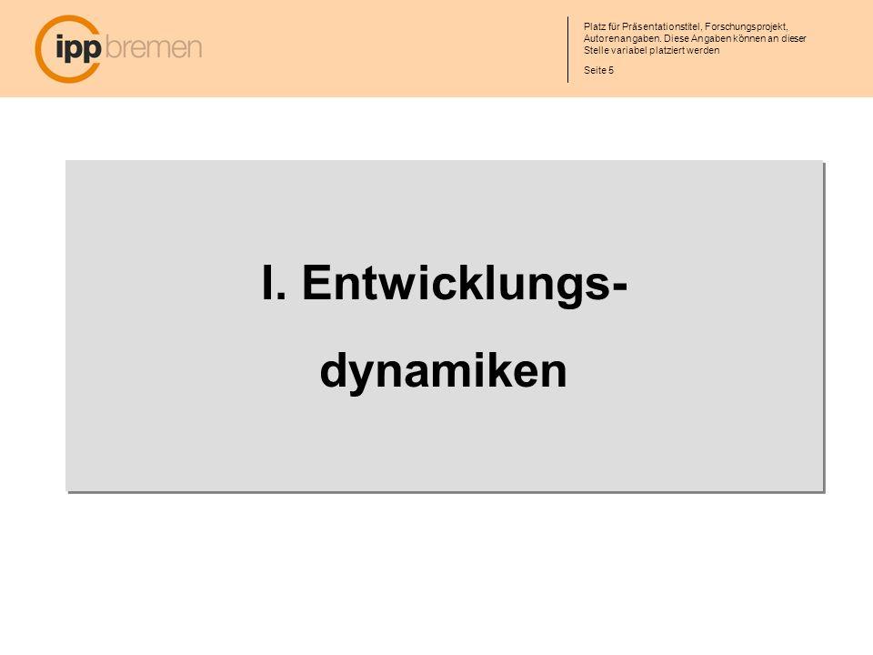I. Entwicklungs- dynamiken