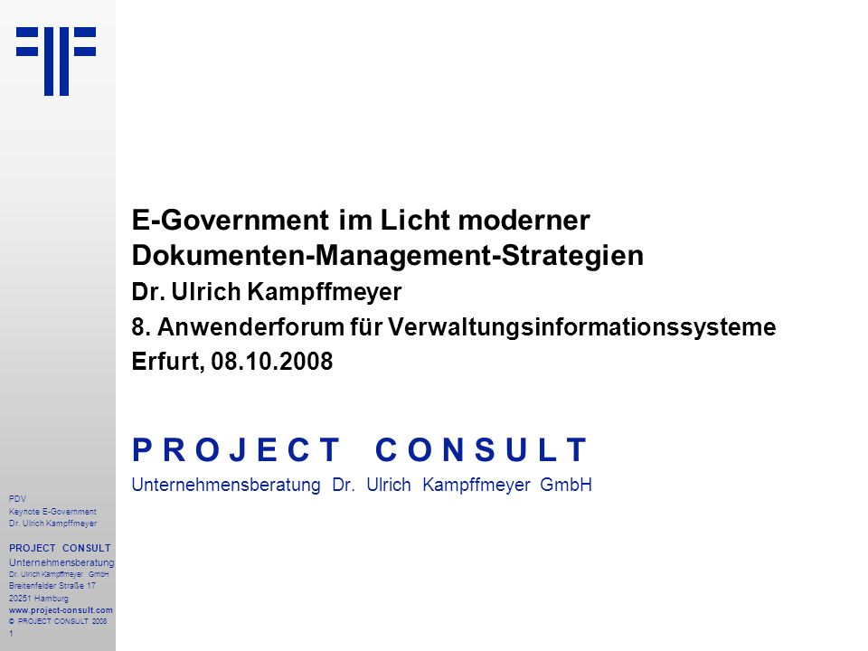 E-Government im Licht moderner Dokumenten-Management-Strategien