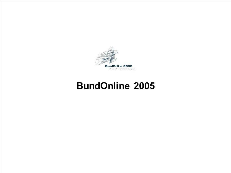 BundOnline 2005 PROJECT CONSULT Unternehmensberatung PDV