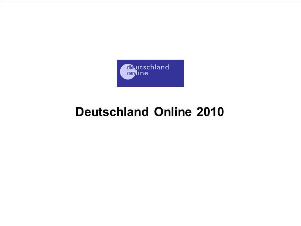 Deutschland Online 2010 PROJECT CONSULT Unternehmensberatung PDV