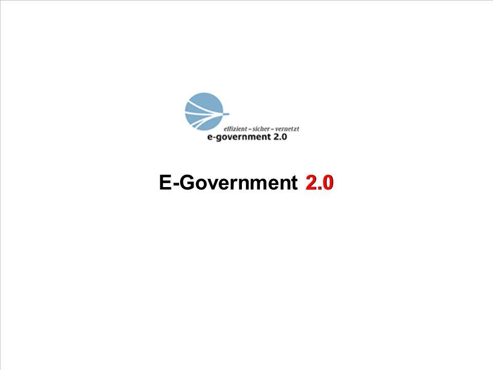 E-Government 2.0 2.0 PROJECT CONSULT Unternehmensberatung PDV