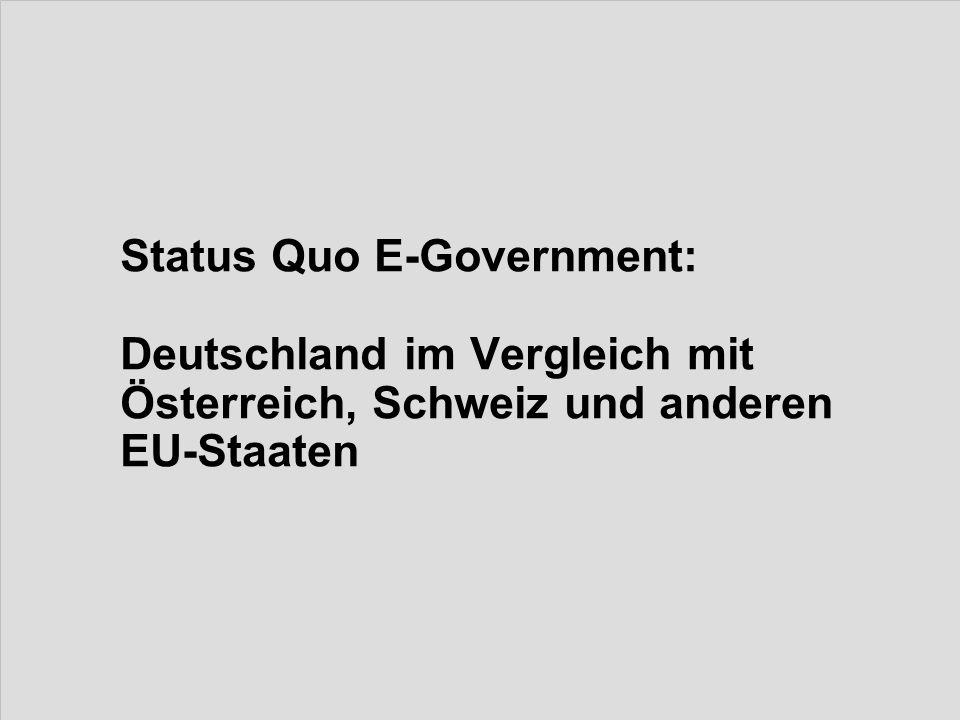 Status Quo E-Government: Deutschland im Vergleich mit Österreich, Schweiz und anderen EU-Staaten
