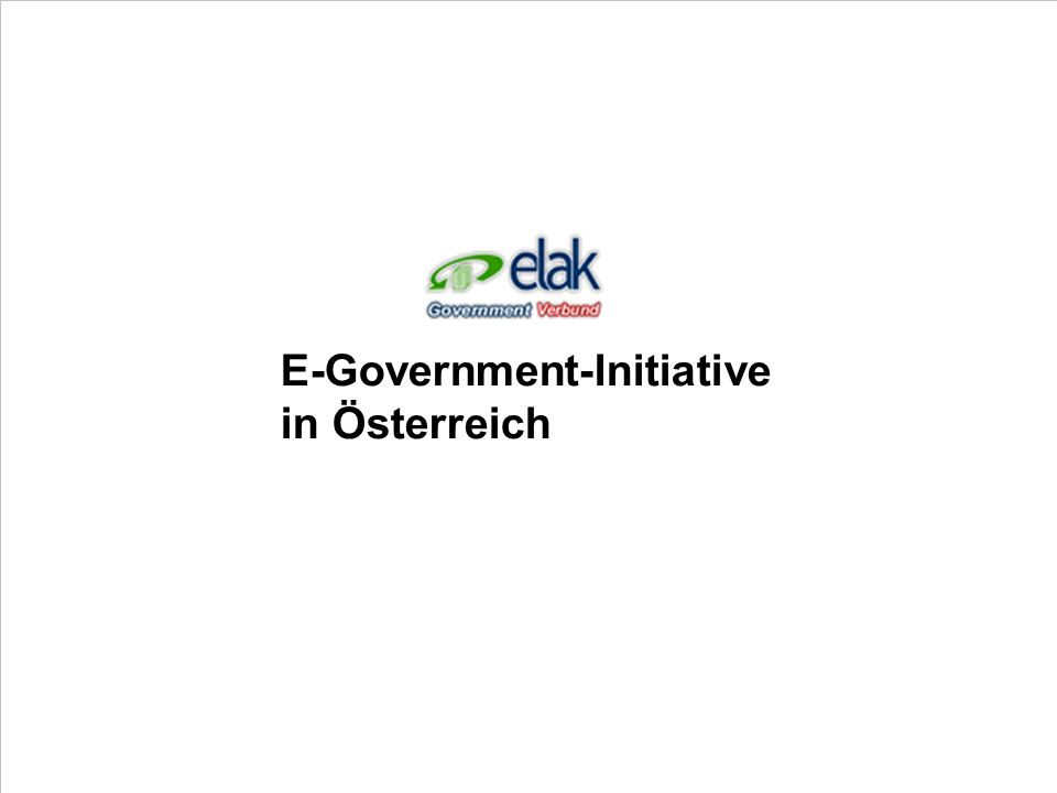 E-Government-Initiative in Österreich