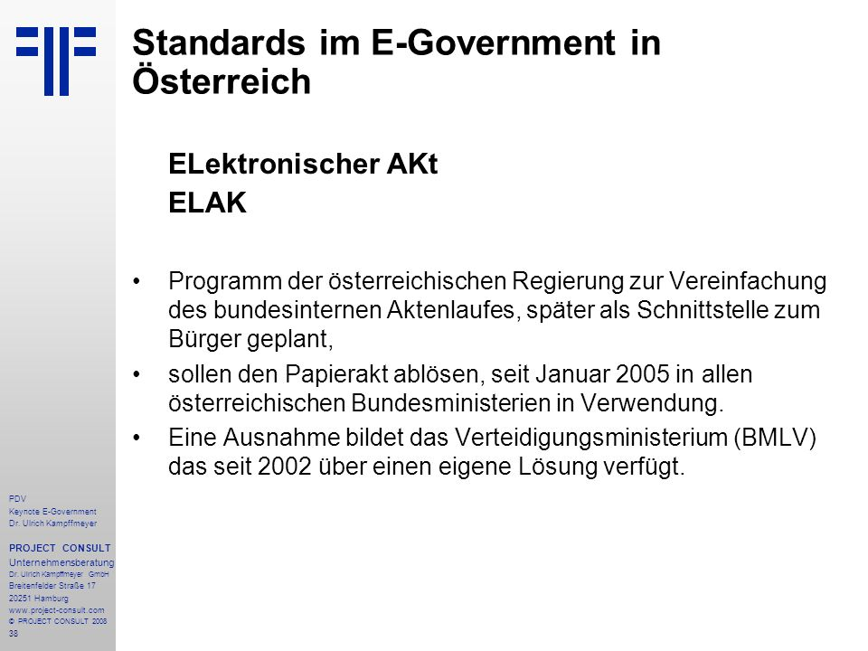 Standards im E-Government in Österreich