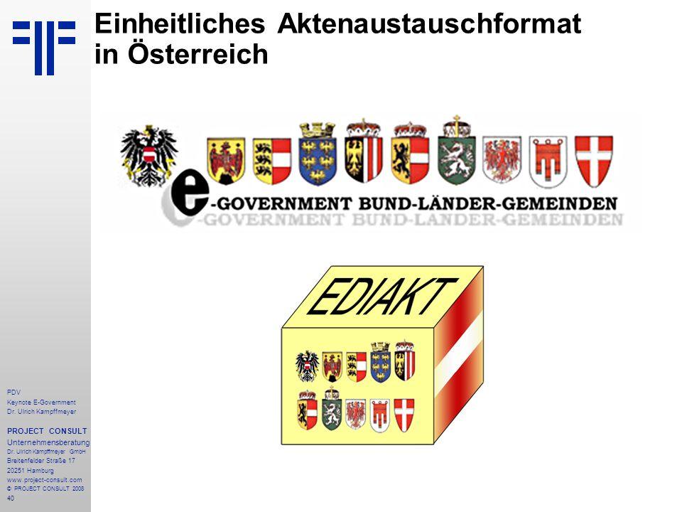 Einheitliches Aktenaustauschformat in Österreich