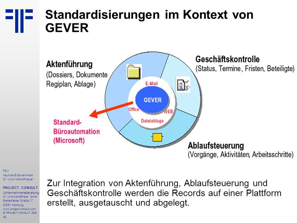 Standardisierungen im Kontext von GEVER