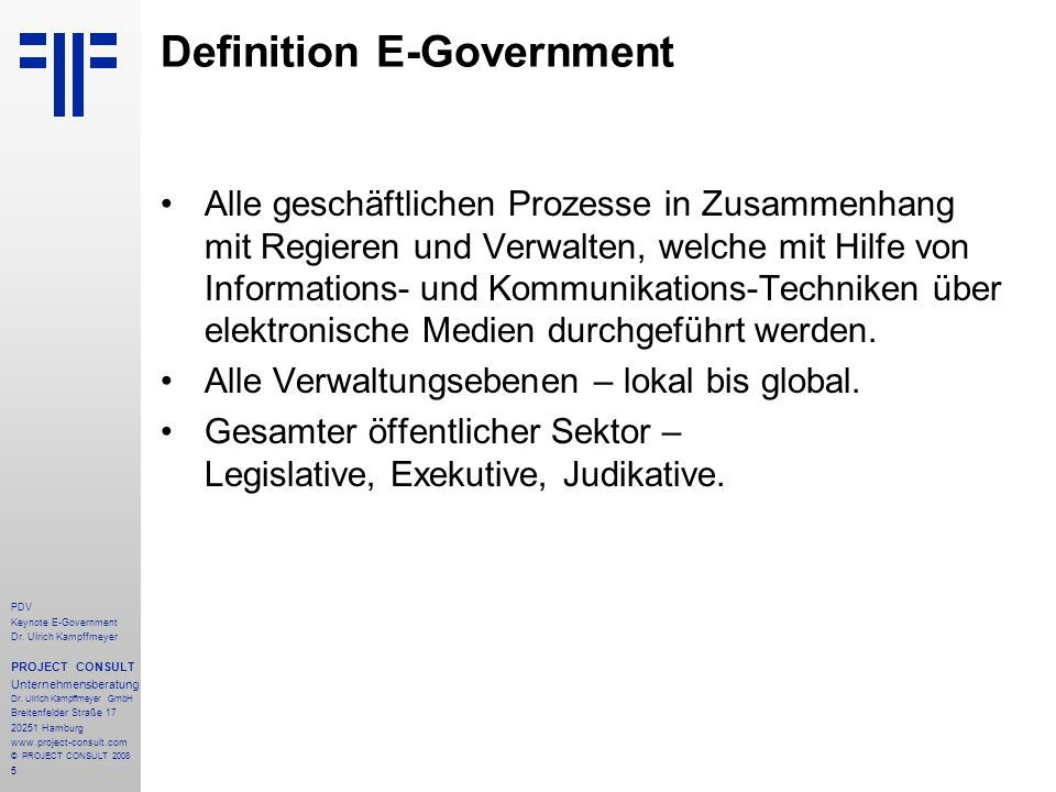 Definition E-Government