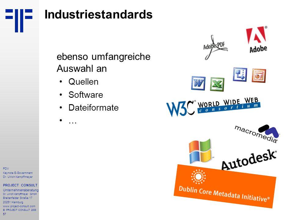 Industriestandards ebenso umfangreiche Auswahl an Quellen Software