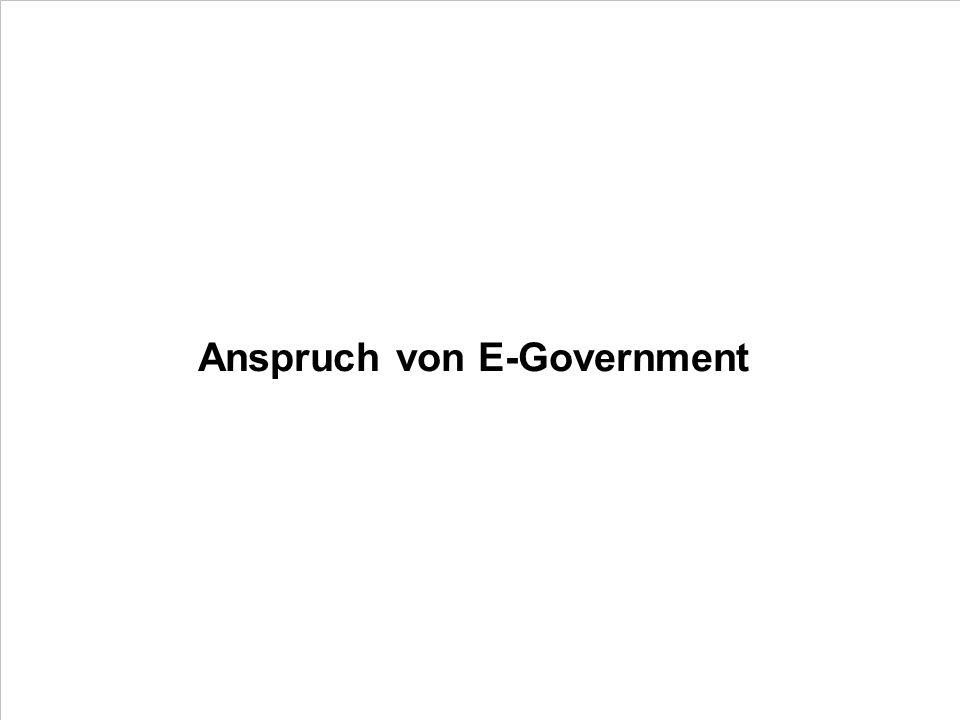 Anspruch von E-Government