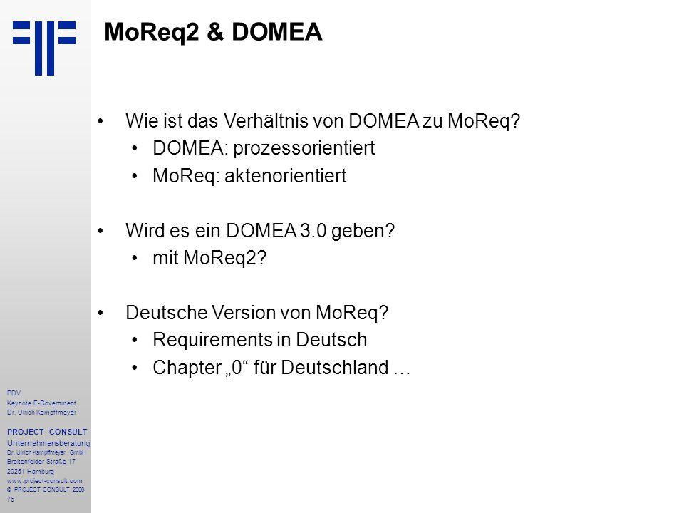 MoReq2 & DOMEA Wie ist das Verhältnis von DOMEA zu MoReq