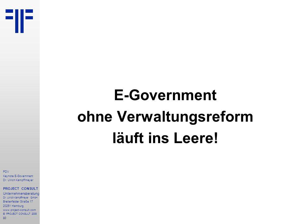 ohne Verwaltungsreform