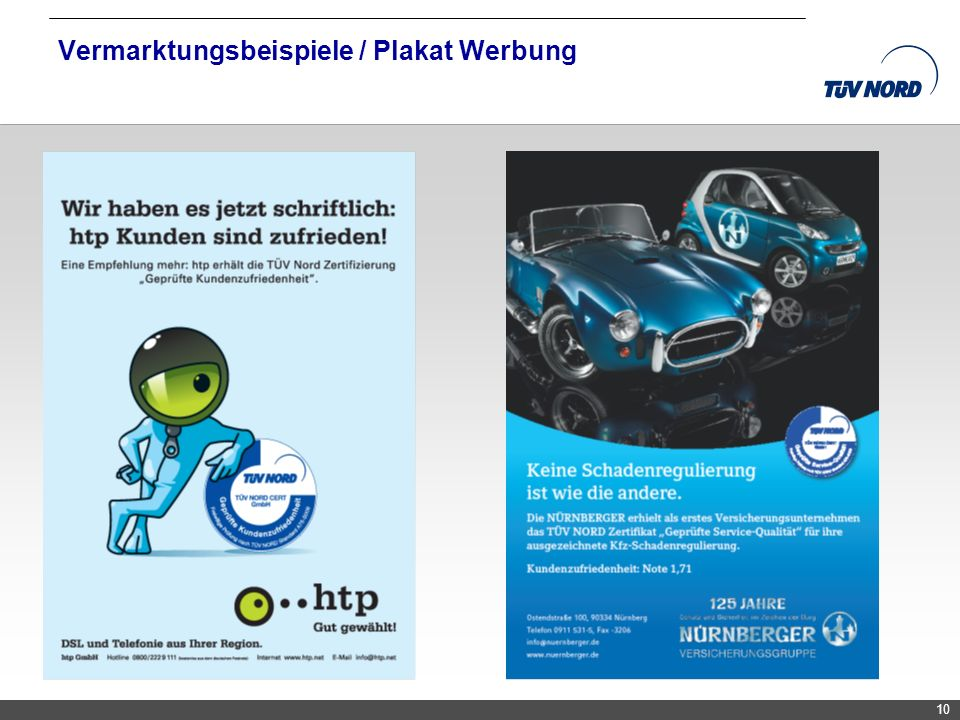 Vermarktungsbeispiele / Plakat Werbung