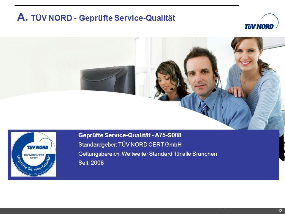 A. TÜV NORD - Geprüfte Service-Qualität