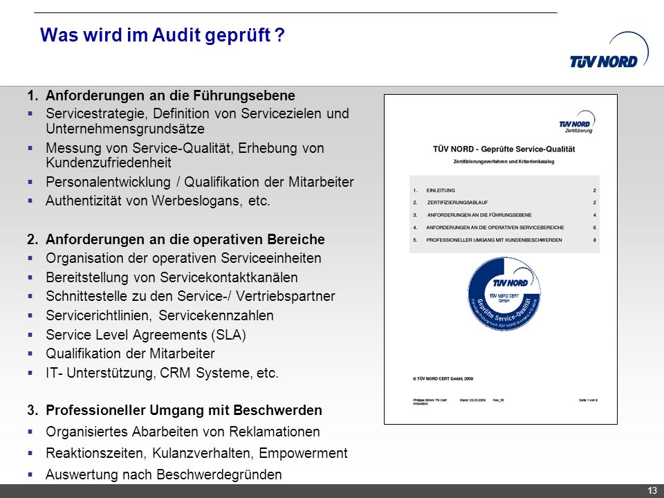 Was wird im Audit geprüft