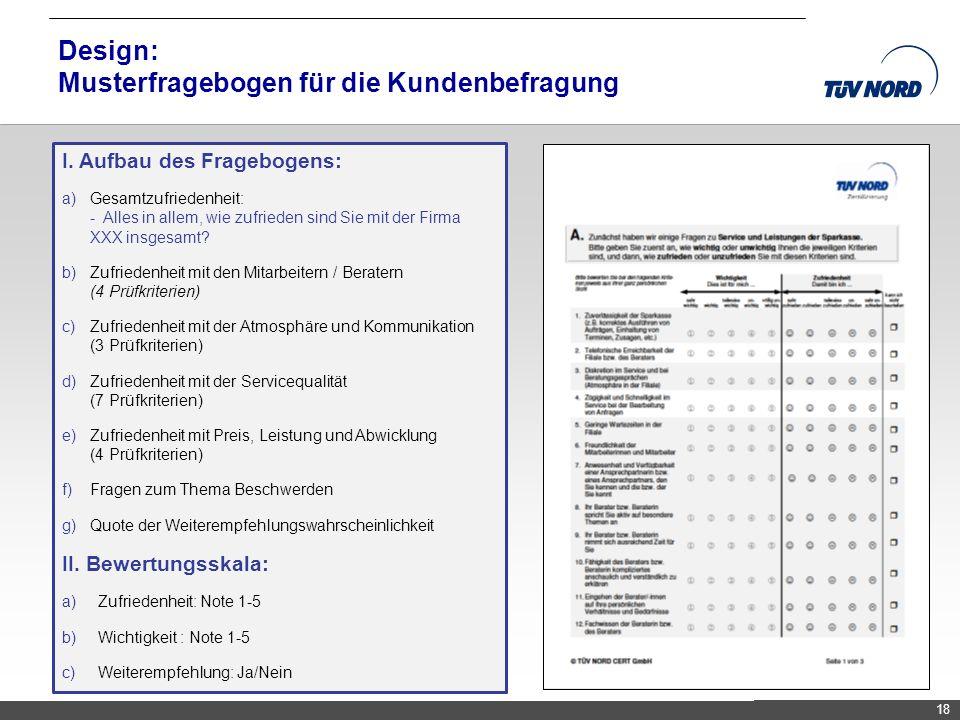 Design: Musterfragebogen für die Kundenbefragung