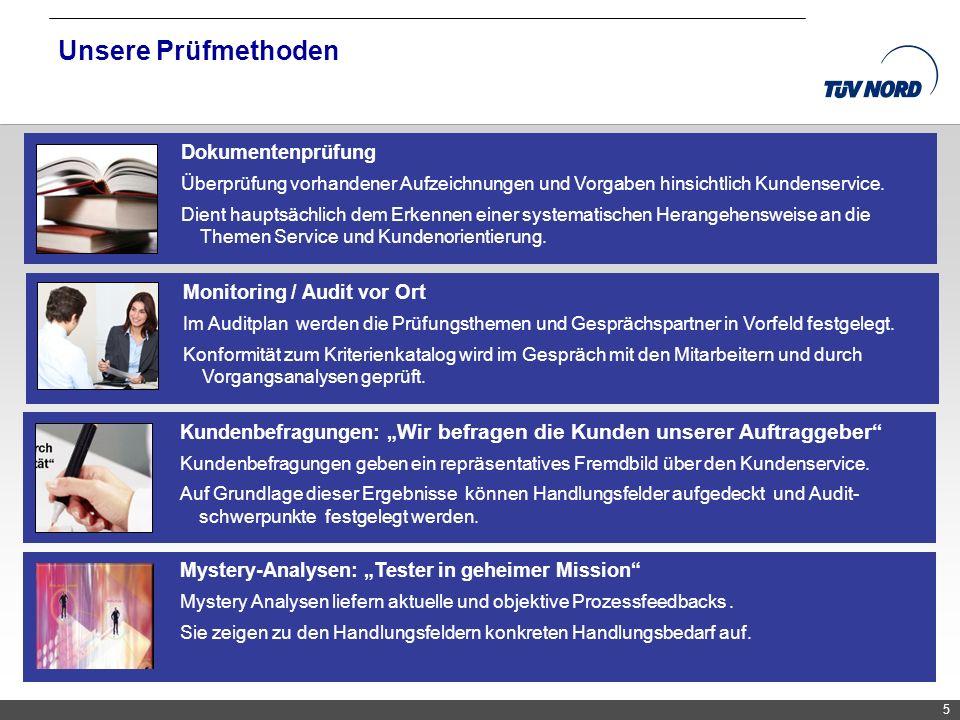 Unsere Prüfmethoden Dokumentenprüfung Monitoring / Audit vor Ort