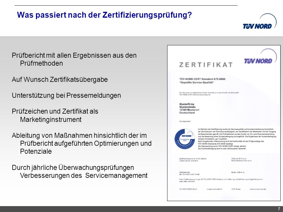 Was passiert nach der Zertifizierungsprüfung