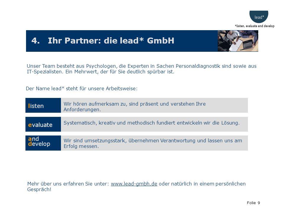 4. Ihr Partner: die lead* GmbH