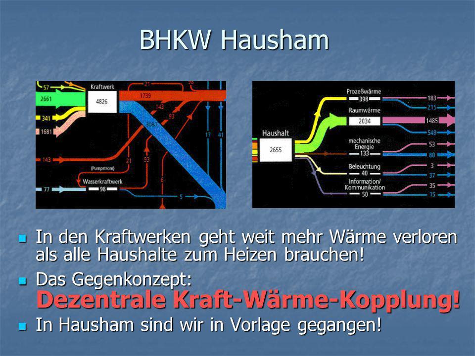 BHKW Hausham In den Kraftwerken geht weit mehr Wärme verloren als alle Haushalte zum Heizen brauchen!