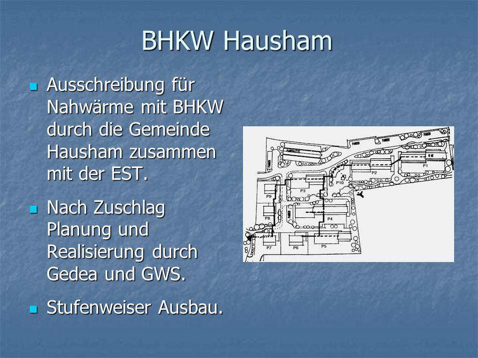 BHKW Hausham Ausschreibung für Nahwärme mit BHKW durch die Gemeinde Hausham zusammen mit der EST.