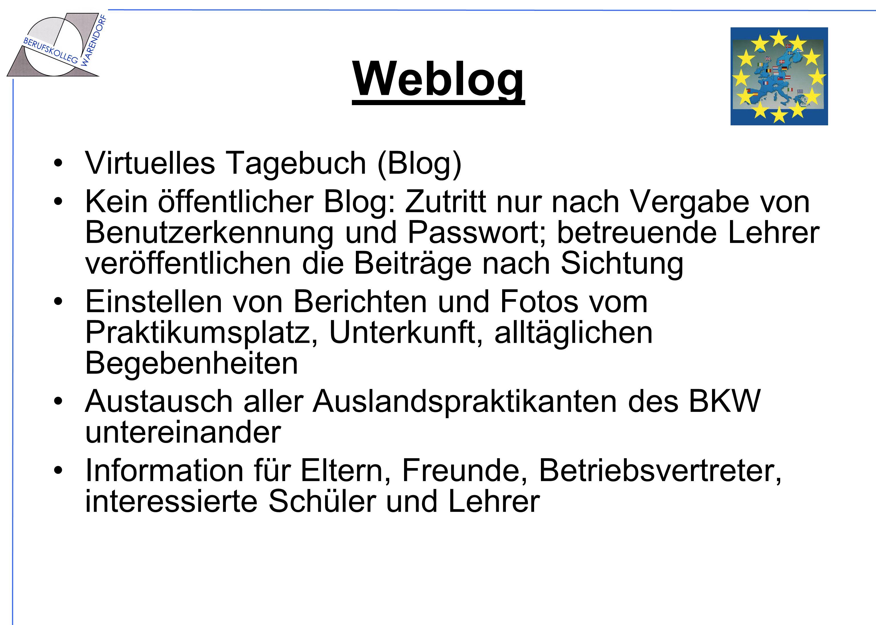 Weblog Virtuelles Tagebuch (Blog)