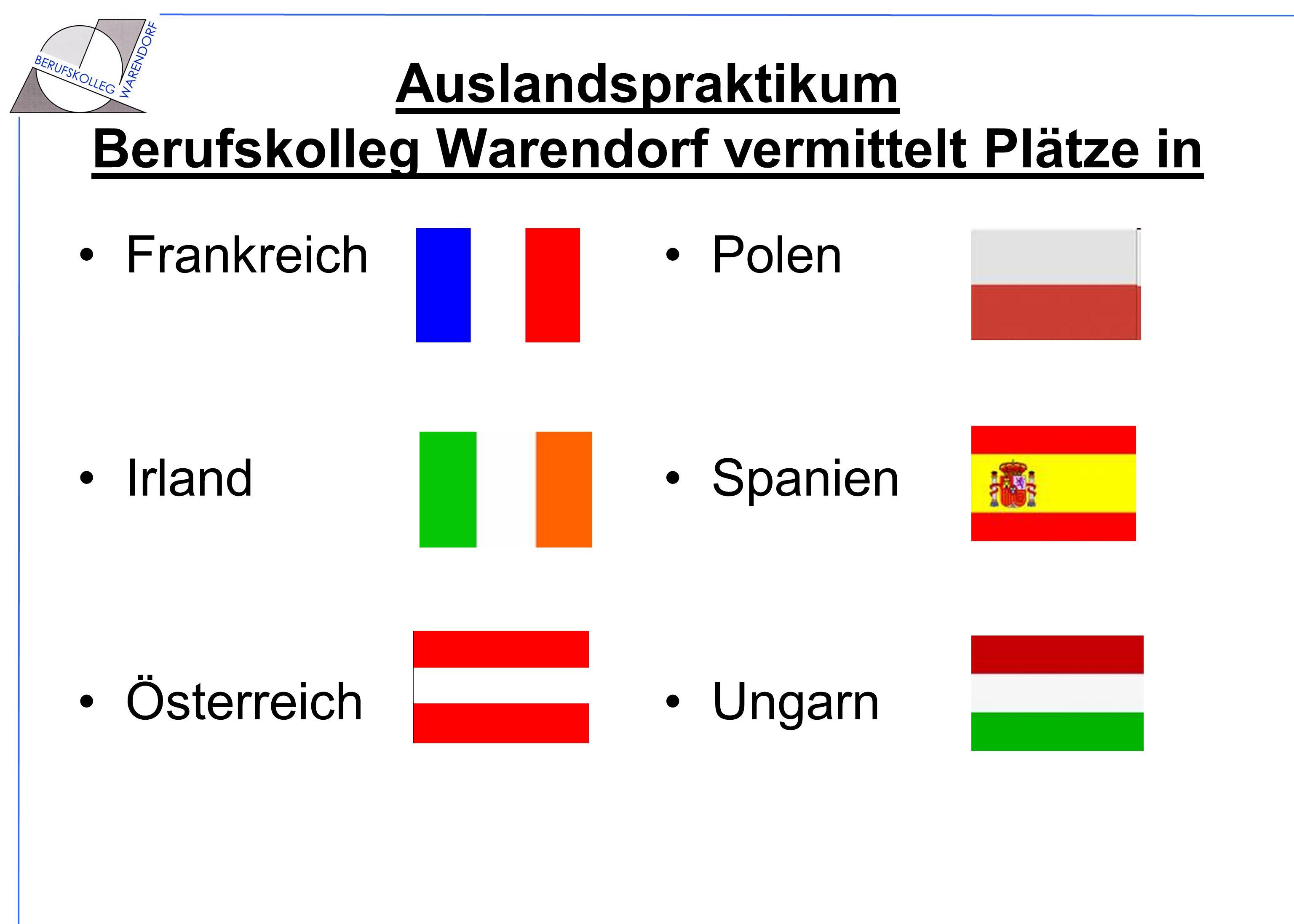 Auslandspraktikum Berufskolleg Warendorf vermittelt Plätze in