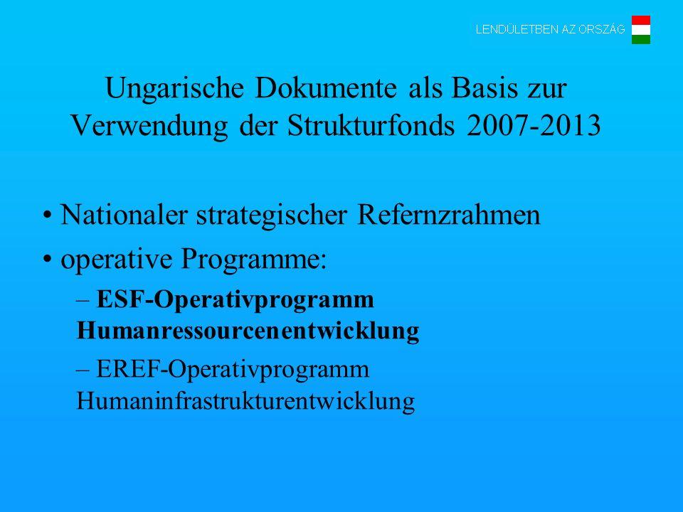 Ungarische Dokumente als Basis zur Verwendung der Strukturfonds 2007-2013