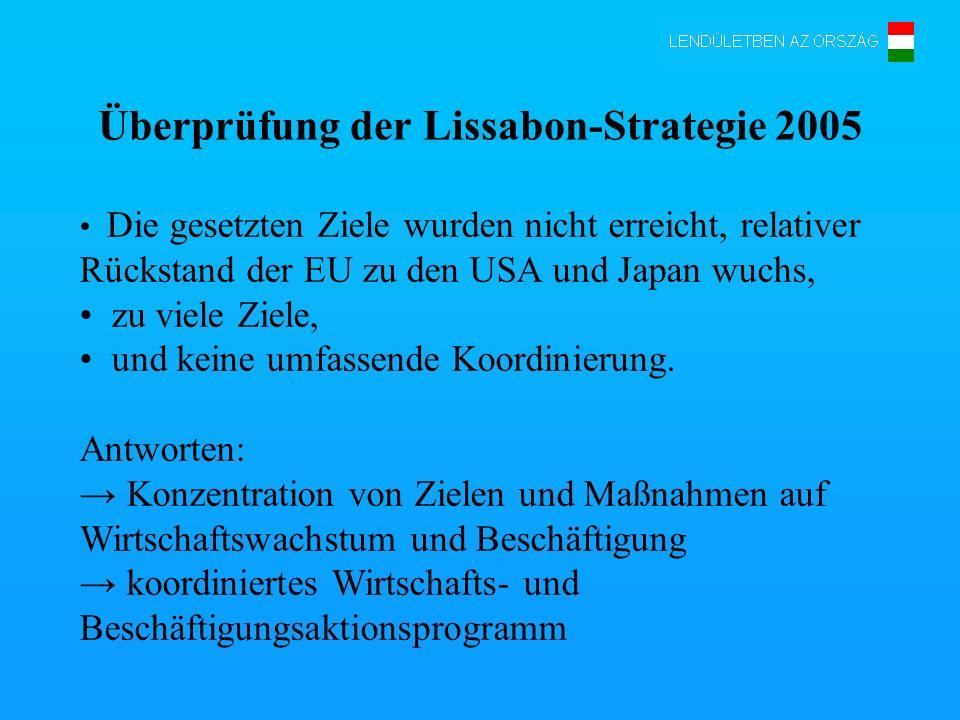 Überprüfung der Lissabon-Strategie 2005
