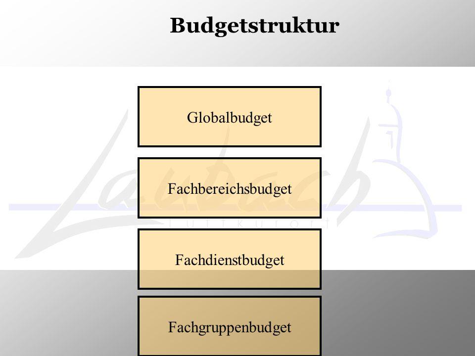 Budgetstruktur Globalbudget Fachbereichsbudget Fachdienstbudget