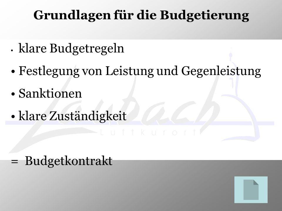 Grundlagen für die Budgetierung