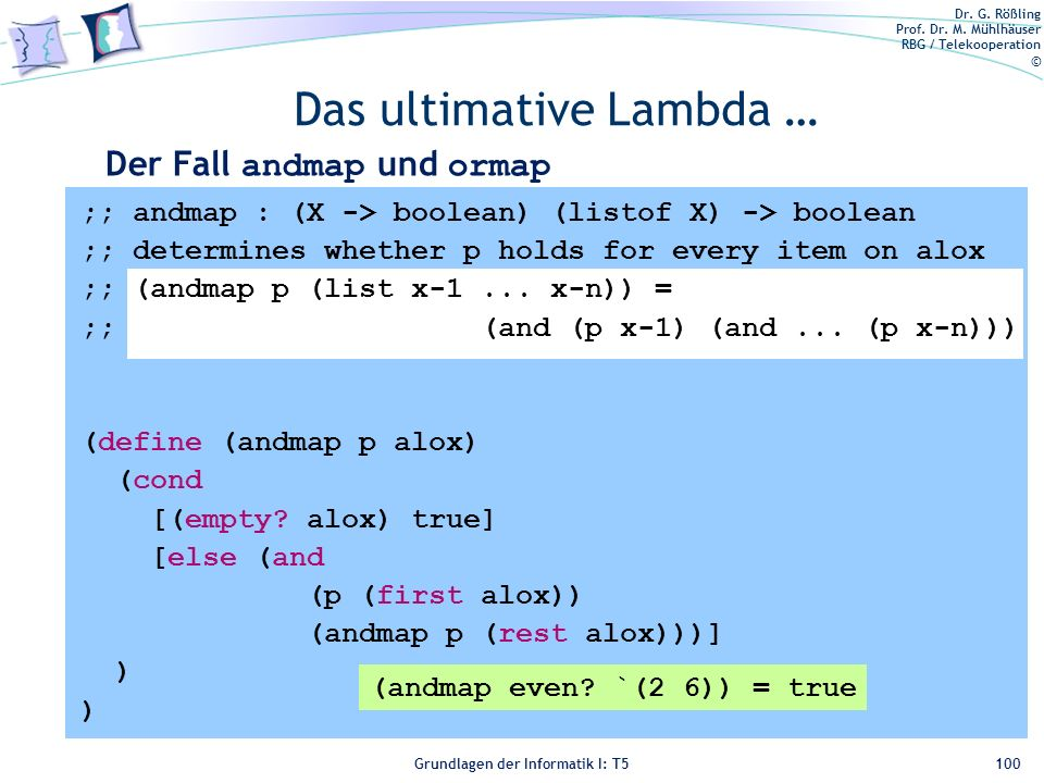 Das ultimative Lambda …
