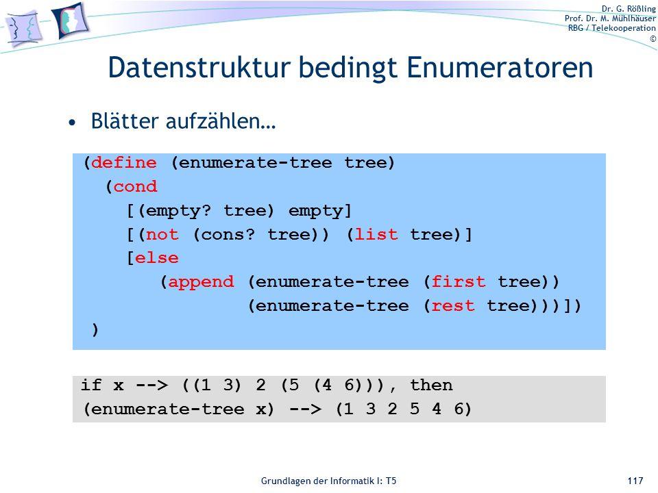 Datenstruktur bedingt Enumeratoren
