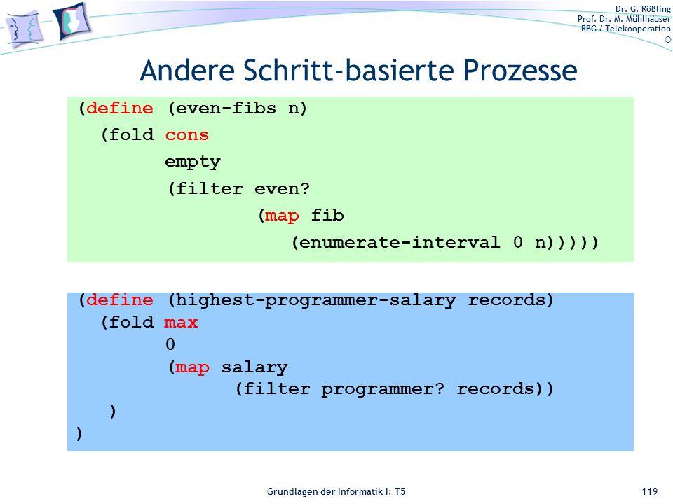 Andere Schritt-basierte Prozesse