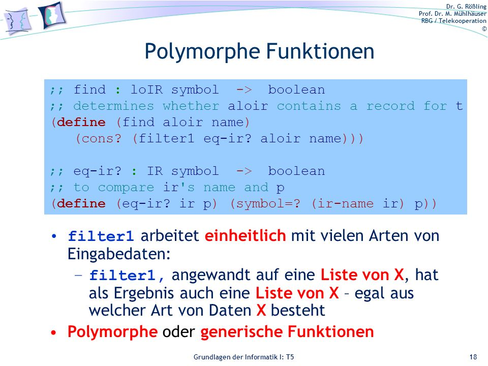 Polymorphe Funktionen