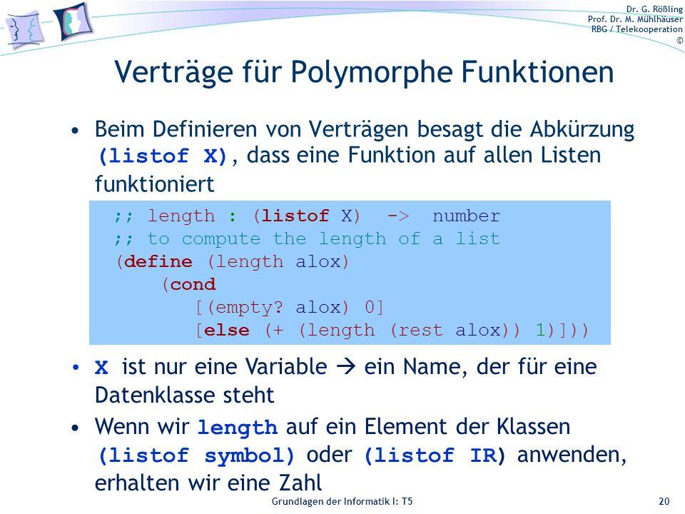 Verträge für Polymorphe Funktionen
