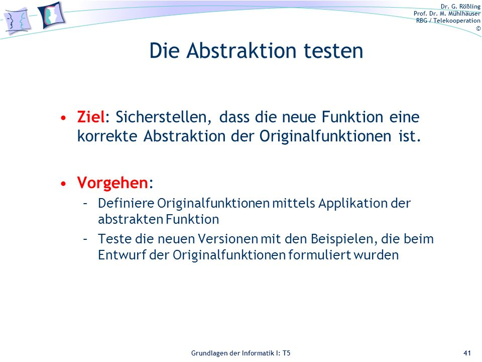 Die Abstraktion testen