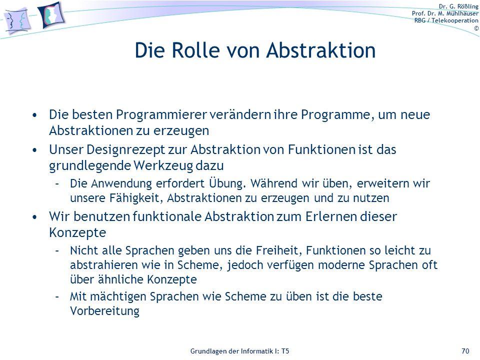 Die Rolle von Abstraktion