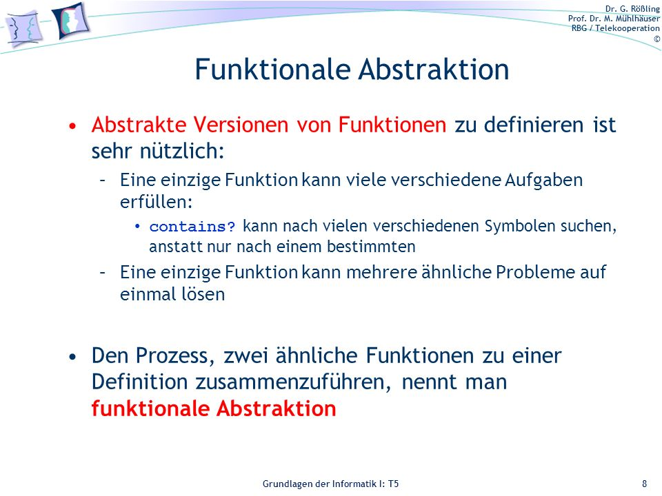 Funktionale Abstraktion