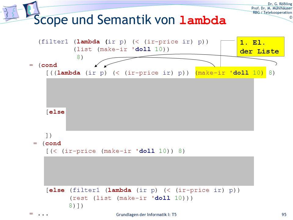 Scope und Semantik von lambda
