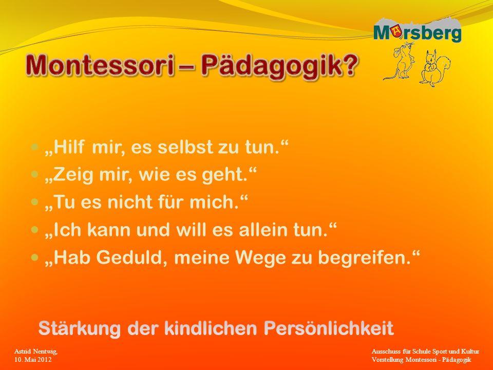 Montessori – Pädagogik