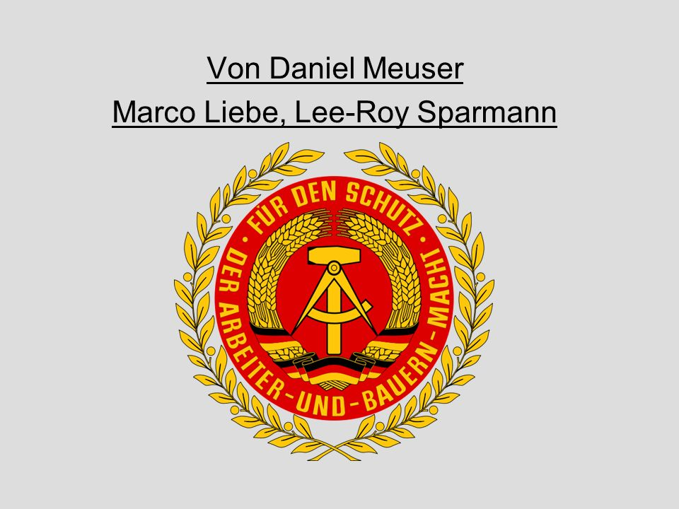 Marco Liebe, Lee-Roy Sparmann